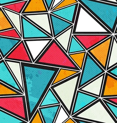 Triangle seamless pattern with grunge effect vector