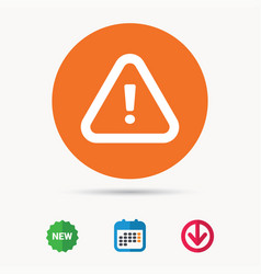 Warning icon attention exclamation sign vector