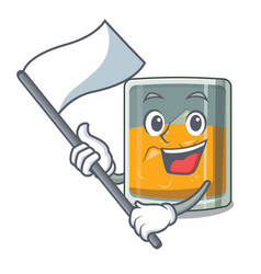with flag whiskey in a mascot shape vector image