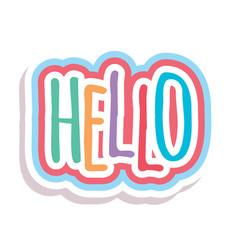 Word text rainbow hello image vector