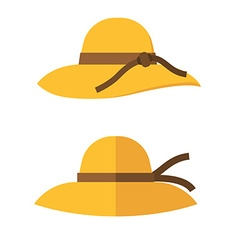 Yellow woman hat vector