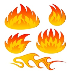Abstract flame vector image
