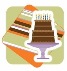 chocolate birthday cake illustration vector image