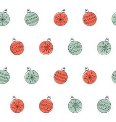 Christmas balls seamless background vector image
