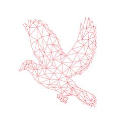 Dove holyspirit line vector