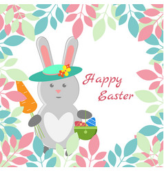 lovely childrens card for the feast of easter vector image