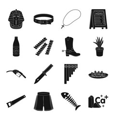 Mexico weapons party and other web icon in black vector