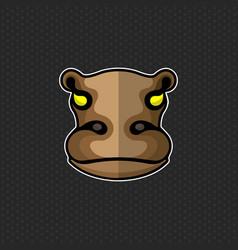 Hippo logo design template hippo head icon vector