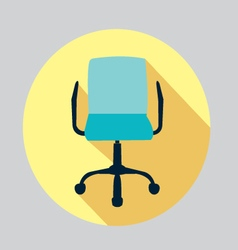 icon of a chair Office chair vector image vector image