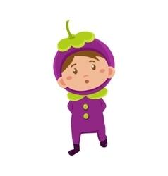 Kid In Mangosteen Costume vector image