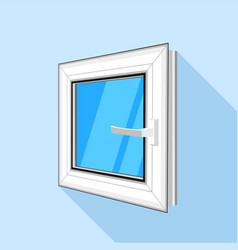 square plastic window with blue sky glass icon vector image vector image