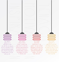 Startup company light bulbs concept typography vector