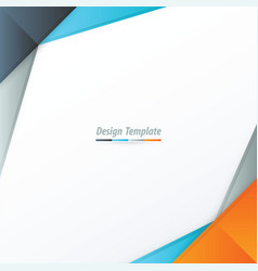 template design orange blue gray vector image vector image