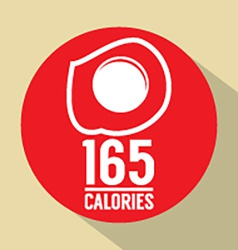 Fried egg 165 calories symbol vector