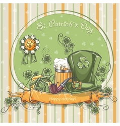 Greeting card for St Patricks Day vector image vector image