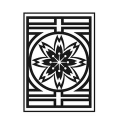 japanese flower culture nature emblem vector image vector image