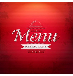Red Menu Background vector image