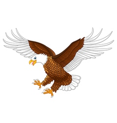 the flying eagle vector image