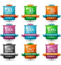 web satisfaction guarantee badges vector image vector image