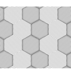 Abstract Striped Hexagons Geometric Seamless vector image vector image