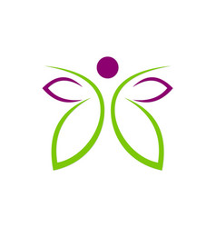 butterfly abstract beauty spa logo vector image