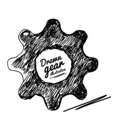 gear drawn vector image