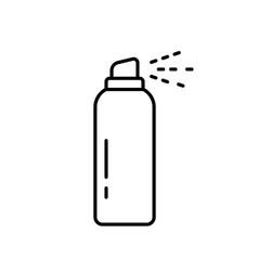 Aerosol spray can linear icon deodorant vector