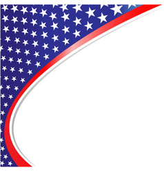 american abstract flag corner border vector image