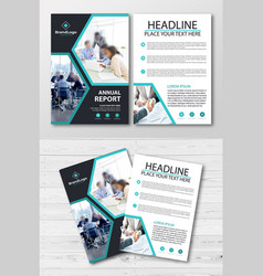 Annual report business flyer template vector