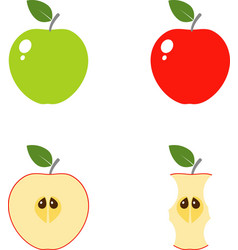 apple computer icons vector image
