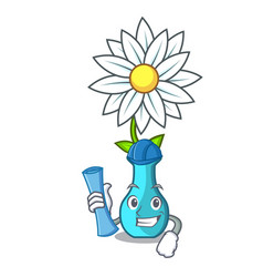architect character cartoon glass vase with vector image