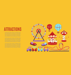 attraction banner carousels vector image