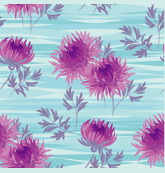 Autumn flowers seamless pattern in violet color vector