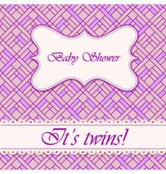 Baby-shower-abstract-background-twins-3 vector