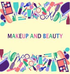 background of cosmetics shop beauty salon vector image