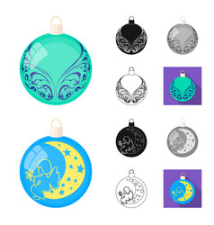 balls for decoration cartoonblackflatmonochrome vector image