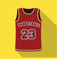 Basketball jerseybasketball single icon in flat vector