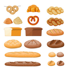 big bread icons set vector image