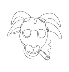 Billy goat wearing sunglasses cigar continuous vector