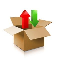 Cardboard box icon vector