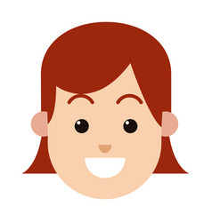 character woman female hairred smiling image vector image