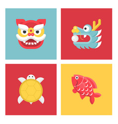 Chinese new year lucky animal sign vector