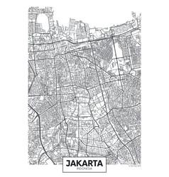 City map jakarta travel poster design vector