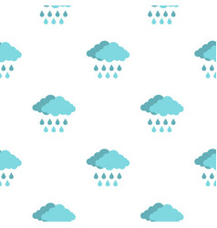 Cloud with rain pattern seamless vector