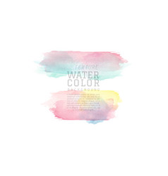 colorful abstract brush watercolor background vector image
