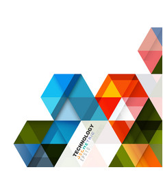 colorful geometric modern template for business vector image
