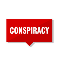 Conspiracy red tag vector