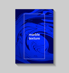 creative design posters with marbling vector image