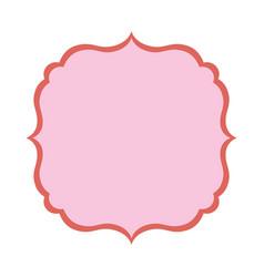 Decorative frame emblem vector