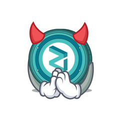 Devil zilliqa coin mascot cartoon vector
